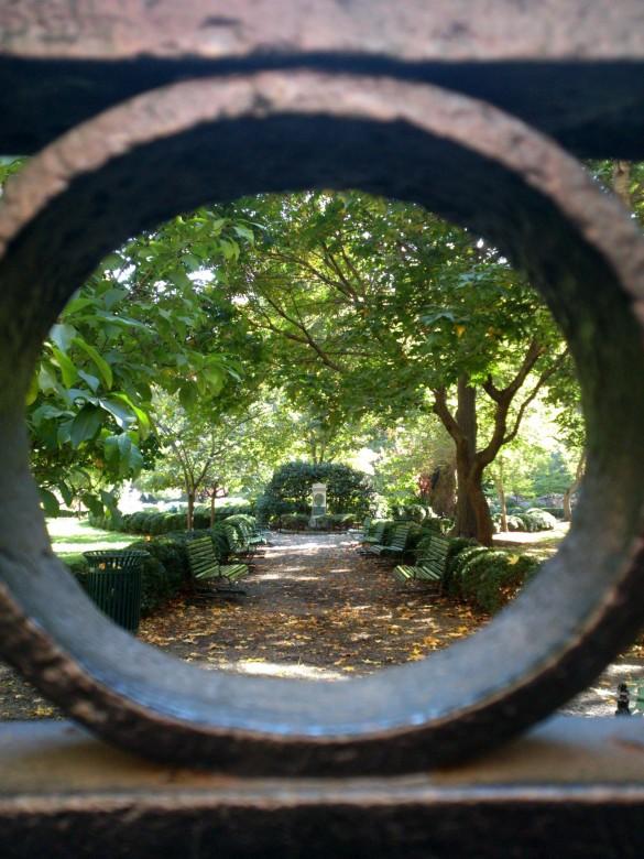 Gramercy Park Through the Wrought Iron Fence