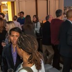 Guests Mingle at the Rooftop