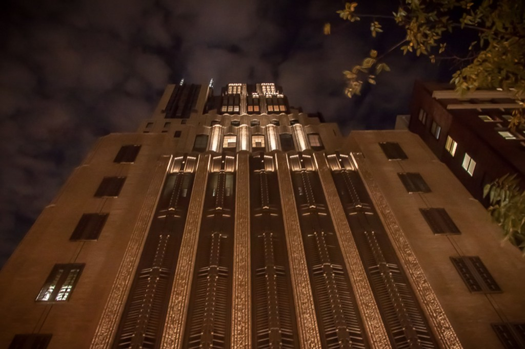 Walker Tower at Night