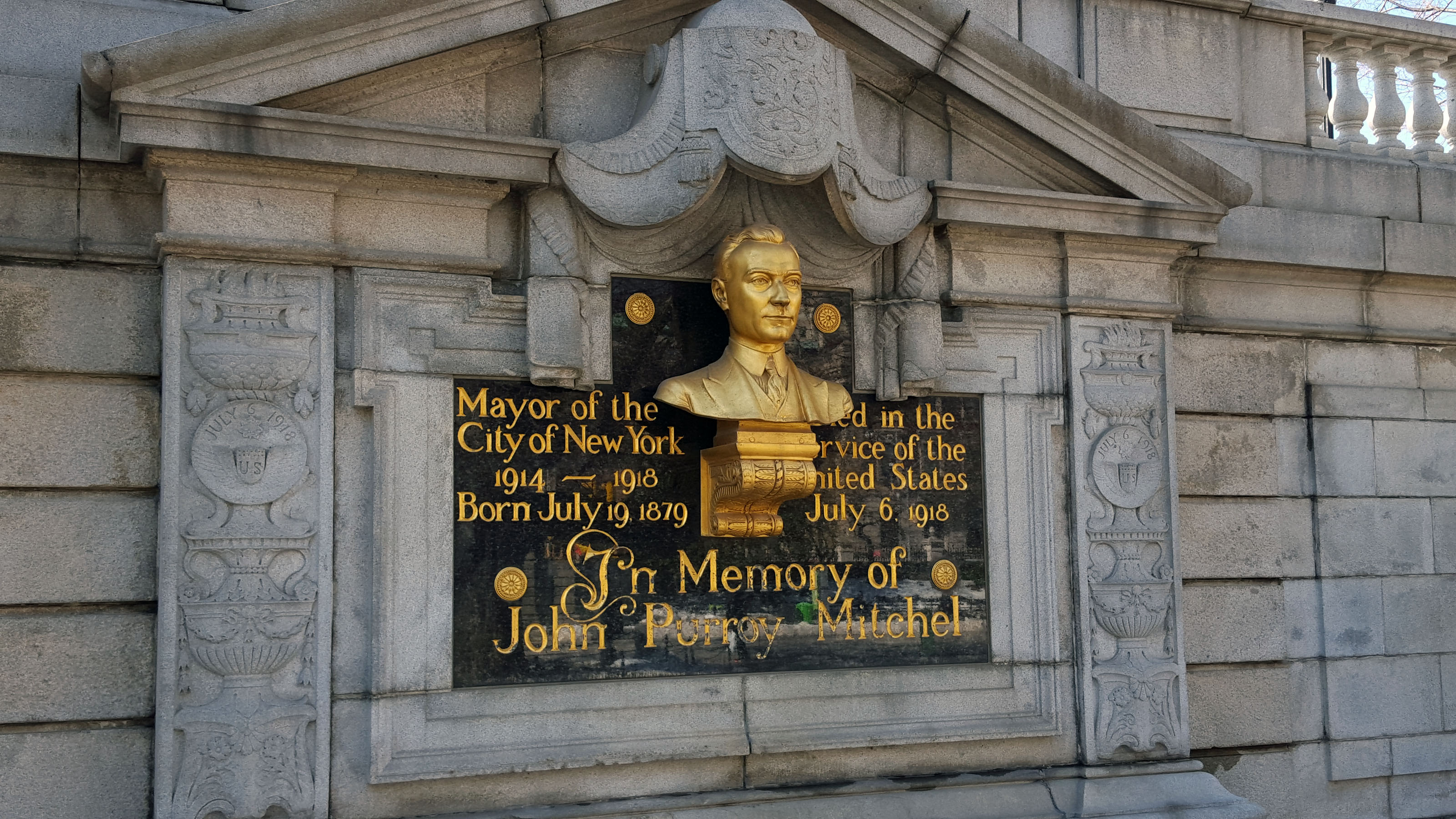 The John Purroy Mitchel Monument